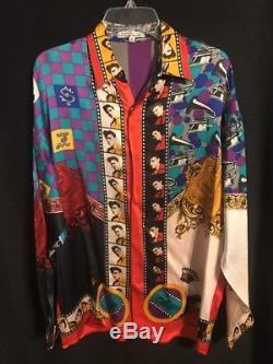 Vtg Mens Rare Creme De Silk Elvis Presley 1993 Silk Shirt Only 50 Made Sm/med